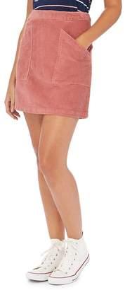 Red Herring Pale Pink Cord Mini Skirt
