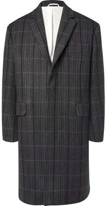 Calvin Klein Oversized Checked Virgin Wool And Silk-Blend Coat