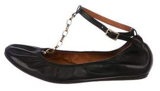 Lanvin Leather Chain-Link Flats