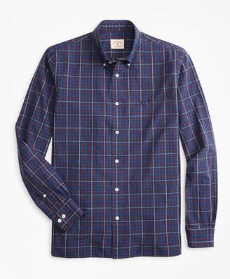 Brooks Brothers Windowpane Yarn-Dyed Cotton Poplin Sport Shirt