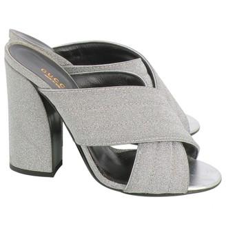 Gucci Silver Glitter Sandals