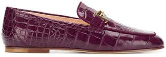 Tod's croc-effect loafers