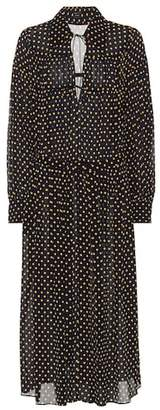 Joseph Crosby polka-dot printed silk dress