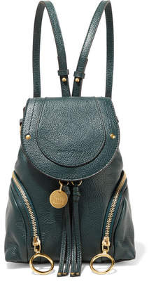 See by Chloe Olga Small Textured-leather Backpack - Emerald