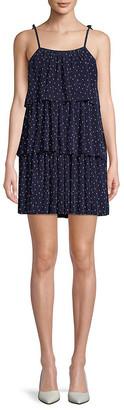 Free Generation Dot-Print Tiered Dress