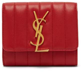 Saint Laurent Monogram Quilted Leather Wallet - Womens - Red