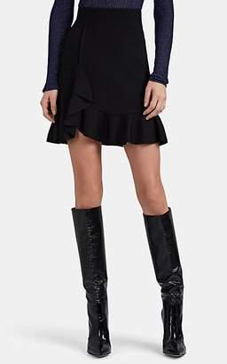 Altuzarra Women's Ziggy Ruffle-Accented Compact Knit Miniskirt - Black