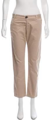 Current/Elliott Mid-Rise Straight-Leg Pants Khaki Mid-Rise Straight-Leg Pants