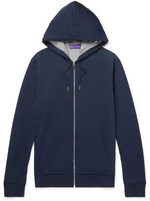 Ralph Lauren Purple Label Double-Faced Pima Cotton-Jersey Zip-Up Hoodie