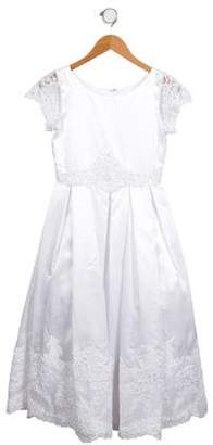 Joan Calabrese Girls' Embellished Satin Dress w/ Tags