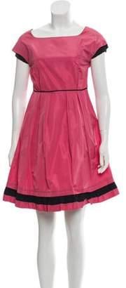 Miu Miu Short Sleeve Mini Dress Pink Short Sleeve Mini Dress