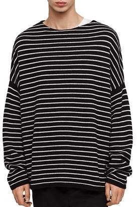 AllSaints Marty Striped Crewneck Sweater