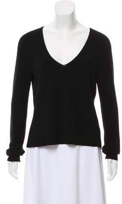 A.L.C. Merino Wool Long Sleeve V-Neck Top