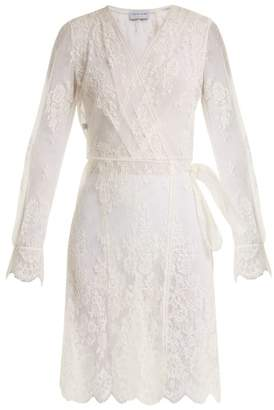 Carine Gilson Floral Lace Wrap Dress - Womens - White
