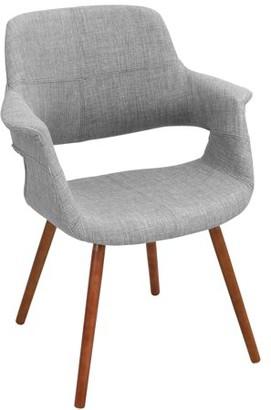 Lumisource Vintage Flair Mid-Century Modern Chair in Light Grey