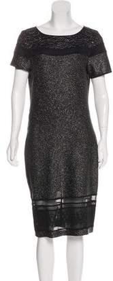 St. John Short Sleeve Midi Dress w/ Tags