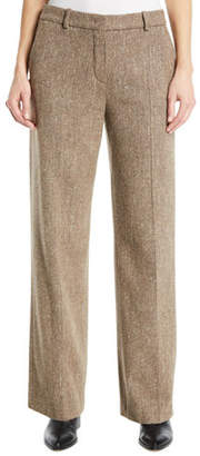 Loro Piana Adam Wide-Leg Tweed Pants