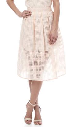 BB Dakota Gingham Organza Skirt