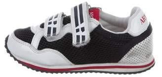 Armani Junior Boys' Mesh Low-Top Sneakers