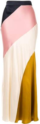 LAYEUR diagonal colour block skirt