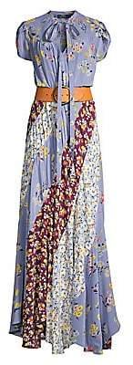 Polo Ralph Lauren Women's Patchwork Silk Maxi Dress