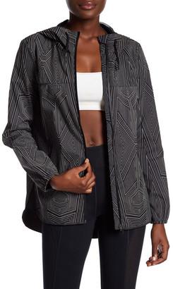 Ivy Park Reflective Linear Print Long Sleeve Jacket $220 thestylecure.com