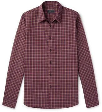 Prada Slim-Fit Checked Cotton-Poplin Shirt
