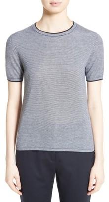 Women's Max Mara Stampa Silk & Cashmere Knit Top $495 thestylecure.com