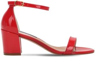 Stuart Weitzman 55MM SIMPLE PATENT LEATHER SANDALS