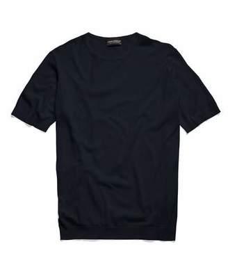 John Smedley Sweaters Belden Sea Island Cotton T-Shirt in Navy