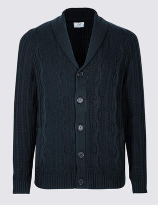 43bbc18eb9 M S CollectionMarks and Spencer Pure Cotton Cable Knit Cardigan