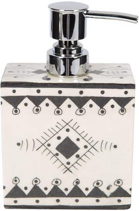 DAY Birger et Mikkelsen Pavillion Hand Painted Soap Dispenser - Jaipur Porcelain - Black/White