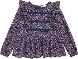 Tucker + Tate Floral Print Lace Trim Top