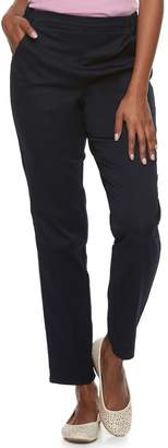 Croft & Barrow Petite Classic Pull-On Mid-Rise Sateen Jeans