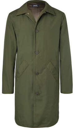 A.P.C. Alex Water-Resistant Canvas Raincoat