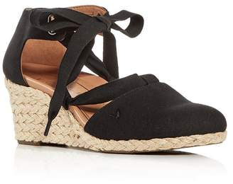 Vionic Women's Kaitlin Ankle-Tie Wedge Espadrille Sandals