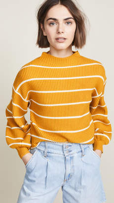 Saylor Bette Striped Mock Neck Sweater