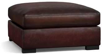 Pottery Barn Turner Leather Sectional Ottoman
