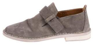 Vince Girls' Suede Round-Toe Loafers