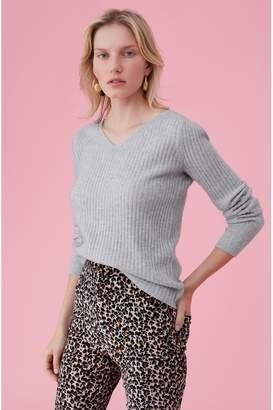 Rebecca Taylor Cashmere V-Neck Pullover
