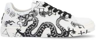 Dragon Optical Printed Leather Sneakers