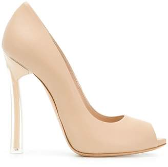 Casadei peep toe pumps