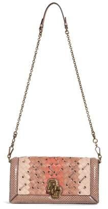 Bottega Veneta Leather & Genuine Snakeskin Clutch