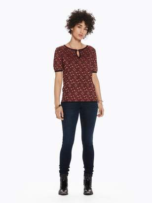 Scotch & Soda Patterned Short Sleeve Sweater