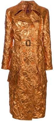 Sies Marjan creased metallic trench coat