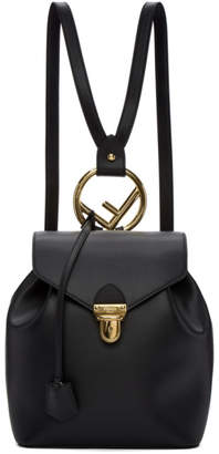 Fendi Black Leather Backpack