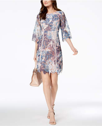 Jax Multicolored Lace Sheath Dress