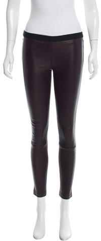 Theory Theory Leather Mid-Rise Leggings