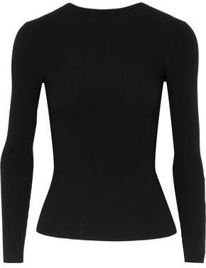 Helmut Lang Tie-Back Ribbed-Knit Sweater