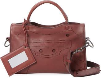 Balenciaga Blackout City Xs Leather Shoulder Bag